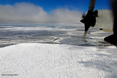 Sea ice in Sulzberger Bay, Ross Sea, Antarctica.